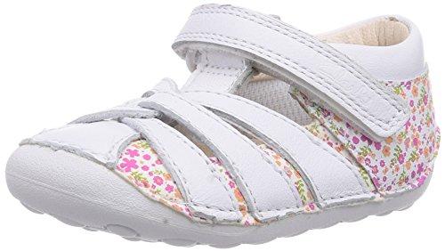Clarks  Little Mae, Chaussures premiers pas pour bébé (fille) Blanc - Weiß (White Combi Lea)