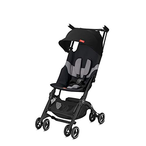 gb Gold Buggy Pockit+ All Terrain, Ultrakompakt, Ab 6 Monate bis 17 kg (ca. 4 Jahre), Velvet Black