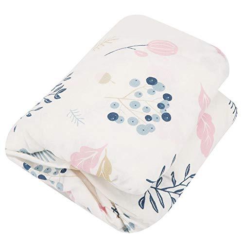 nnbetttuch, weiche Baumwolle Säuglingsbett Spickzettel Neugeborenen Bett Bettwäsche(Blaue Frucht) ()