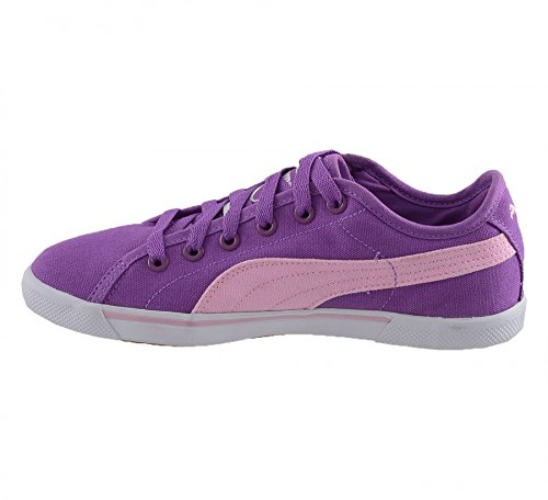 Puma Benecio canvas jr 35150615, Baskets Mode Enfant Violet et rose