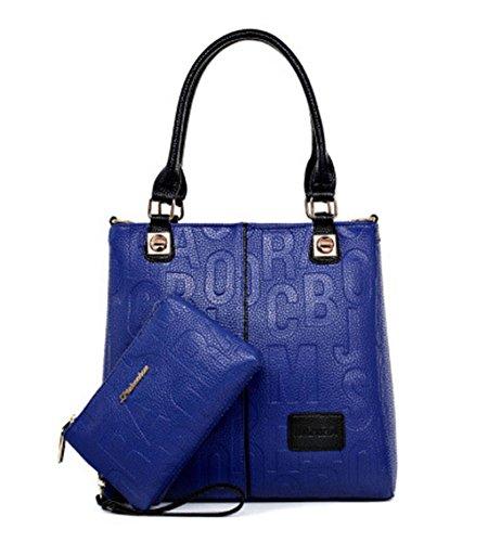 DEERWORD , Sac pour femme à porter à l'épaule - Bleu - bleu, Medium