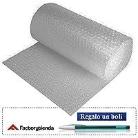 CASAIMABO-Rollo de plástico de burbuja, Ancho 50cm x 40 Metros,transparente (