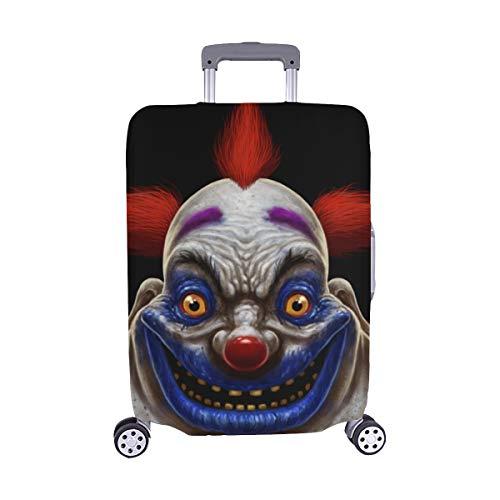 Böser unheimlicher Clown Monster Pattern Spandex-Trolley-Koffer Reisegepäck-Schutzkoffer-Abdeckung 28,5 X 20,5 Zoll