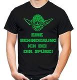 Yoda Spruch Männer und Herren T-Shirt | Star Wars Darth Zitate Sith Vader | Behinderung (M, Schwarz)