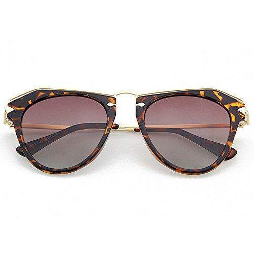 Ppy778 Unregelmäßige Sonnenbrillen der Frauen, polarisierte getönte Gläser, UV-Schutz für Urlaubsreisen (Color : Blue)