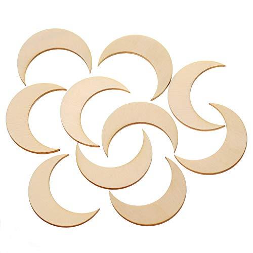 Bütic GmbH Holz Monde - 1-60cm Streudeko Basteln Deko Tischdeko, Pack mit:10 Stück, Größe:Mond 4cm