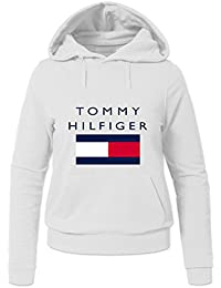 Tommy Hilfiger Cotton Tops For Womens Printed Pullover Hoodies