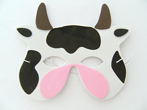 Maske Kuh f. Kindergeburtstag Karneval Fasching Tier Tiere Masken Theater Bauernhof Kühe