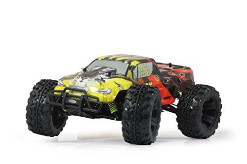 Jamara 503851 - Tiger Monstertruck 1:10 4WD NiMh 2.4GHz - Allrad, Elektroantrieb, Akku, 35Kmh, Aluchassis, spritzwasserfest, Öldruckstoßdämpfer, Kugellager, Fahrwerk einstellbar, fahrfertig - 3