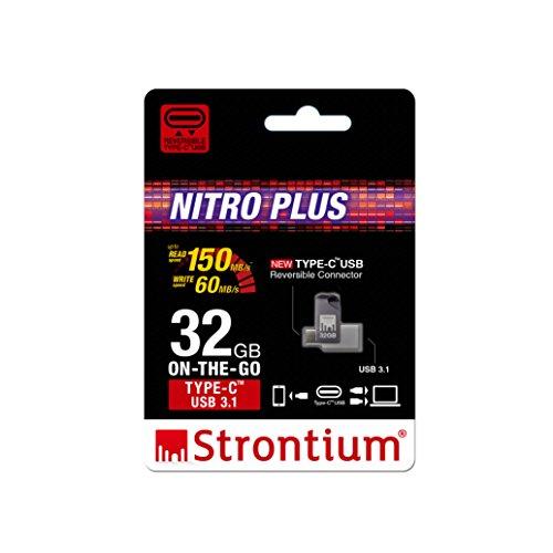 Strontium Nitro Plus USB 3.0 32GB Pen Drive (Silver & Black)