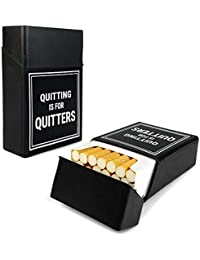 Tuff-Luv Cigarette de silicone couverture de cas Nouveauté - Noir (Quitting is for Quitters)