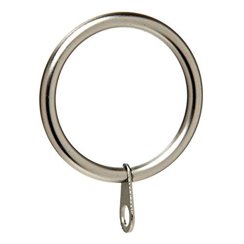 Bulk Hardware bh06186Gardinen Stange Ring Feste Eye Nickel Metall innen Dimension 50mm, Set 8Stück (Gardinen Stange Nickel)