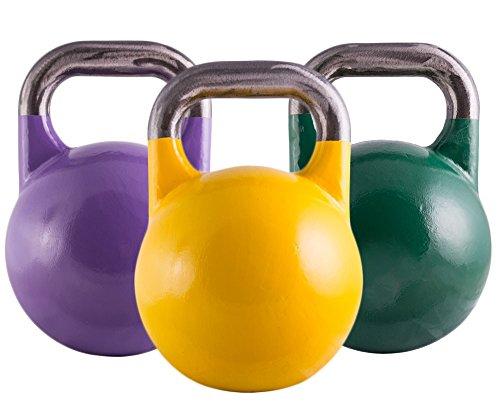 Suprfit Pro Competition Kettlebell 8 – 44 kg   Kugelhantel   Schwunghantel   Crossfit Gewichtheben Bodybuilding   Professional Studio Qualität   Stahl