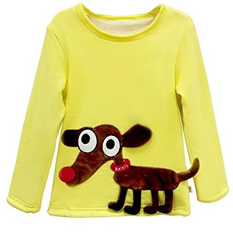 Bébé Sweat-Shirt Pull-over pour Enfant Épais Sweatshirt Tops pour fille et garçon Vine 1-3 ans
