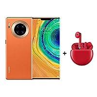 Huawei Mate 30 Pro 5G 256GB 8GB Ram Smartphone Vegan Leather Orange + Freebuds 3 Red