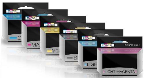 Prestige Cartridge HP84/HP85 Sei Cartucce di Inchiostro non OEM per Stampanti HP Designjet, Multicolore