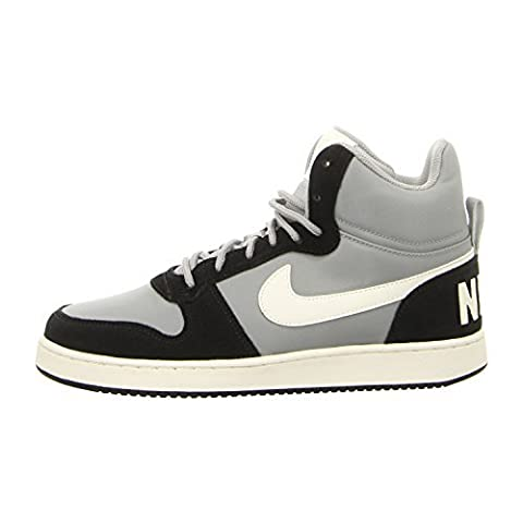 NIKE Men's Court Borough Mid Premium Basketball Shoe, Matte Silver/Sail/Black, 7 M US