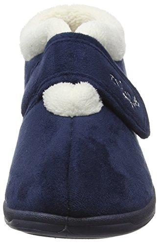 Dunlop Deloris, Chaussons Femme Bleu - Bleu (Bleu marine)