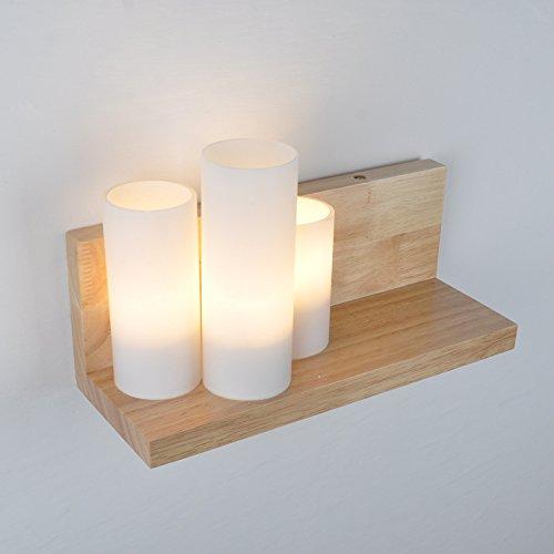 JinRou Chinesische Mauer aus Holz Sitzbank und einem minimalistischen led lights off 0102 Hyun Treppenhaus Schlafzimmer Bett Lampen koreanischen Racks , 310*120*155mm Lampen