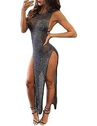 Yesmile Vestido de Mujer Vestido Corto Partido Vestido Elegante de Noche para Boda Sexy Bikini Blusa sin Mangas Vestido Largo de la…
