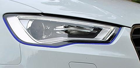 Devil Teufel Scheinwerfer Aufkleber Stripes Eye in dunkelblau, passend für Ihr Fahrzeug