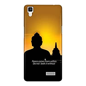 CrazyInk Premium 3D Back Cover for Oppo R7 - Peace Buddha