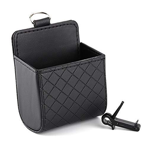 Auto Organizer Air Vent Storage Pouch Pouch Pouch Store Phone Case Box Holder Pocket schwarz