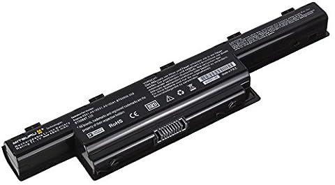 Mitsuru Batterie Ordinateur Portable pour Packard-Bell Easynote LM81, LM82, LM83, LM85, LM86, LM87, LM94, LM98, NM85, NM86, NM87, NM98, TK11, TK36, TK37, TK81, TK83, TK85, TK87, TM01, TM80, TM81, TM82, TM83, TM85, TM86, TM87, TM94, TM98 Series -