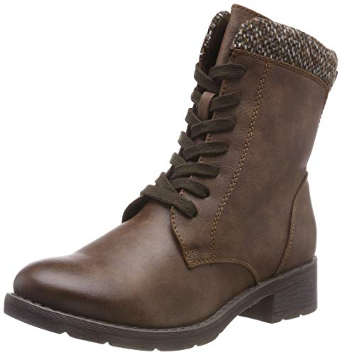 MARCO TOZZI Cool Club Mädchen 46206-21 Combat Boots, Braun (Cafe Ant. Comb 327), 35 EU (Combat Boots Mädchen)