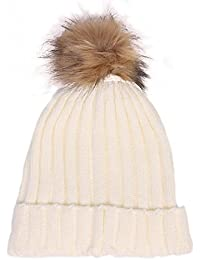 Wuiyepo Femmes Hiver Bonnet / Beanie Bobble chapeau chaud Cap