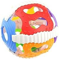Topker Baby Sonajero Juguetes Little Loud Bell Ball Toy Recién Nacido Actividad Agarrando Juguete Handbells Ring Handle Toys