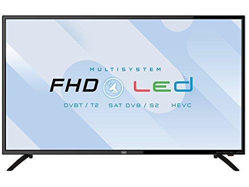"""Trevi LTV 4005 SAT Televisore LED 40"""" con Ricevitore Digitale DVBT-T2 e Satellitare DVBS-S2, USB, SCART, VGA, HDMI, CI+ Common Interface, Funzione Sleep, Funzione Hotel, Risoluzione 1920 x 1080 dpi"""