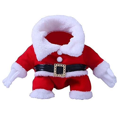 Evetin Weihnachten Halloween Herbst Winter Warm Kleidung, Geschenk für Hund Katze, Haustier Kostüm Mantel Anzug mit Cap (Typ 2, M)