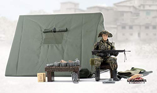 World Peacekeeper Military Action Figure with Howitzer | 30,5cm High | 1: 6 Scale | Combat Soldier with more than 23 Accessories | Intended for children and adults