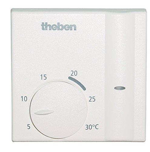Theben 7140002, Termostato ambiente elettronico per tutti i tipi di riscaldamento (gas, acqua, elettrico, ecc.) (Tipo Di Gas)
