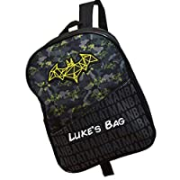 Personalised Batman Backpack for Toddler/Kids/Back to School/Superhero/Children Boys Rucksack Girls/DC/Name/Durable/25 x 31 x 10 Centimetre