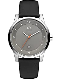 Danish Design - IQ14Q1084 - Montre Mixte - Quartz - Analogique - Bracelet cuir gris