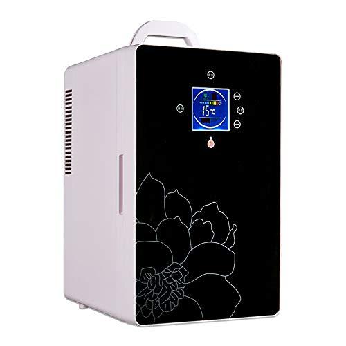 L&K Réfrigérateur De Voiture Mini Refroidisseur Électrique Plus Chaud L'Affichage 220V (C.A.) 12V (CC) 16L Le Bureau À La Maison Le Réfrigérateur Compact De Voiture, Black