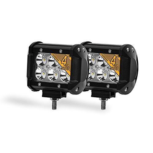 Preisvergleich Produktbild Eyourlife LED Auto Scheinwerfer Offroad Arbeitsscheinwerfer 18W 1800Lumen Spot 2 Stück