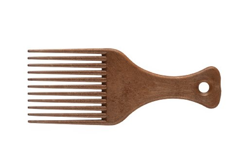 eurostil-styling-comb-afro-comb-with-handle-11-tines-made-of-plastic-with-wood-finish
