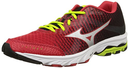 Mizuno Wave Elevation -  para hombre, chinesered/black/limepunch, tall