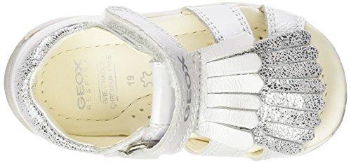 Geox B Sandal Tapuz Girl B, Scarpe Primi Passi Bimba Bianco (WHITE/SILVERC0007)