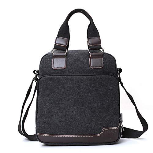 New Herrentasche europäischen und amerikanischen Mode einzigen Schulter Diagonale Tasche Leinwand Boutique Herrentasche schwarz
