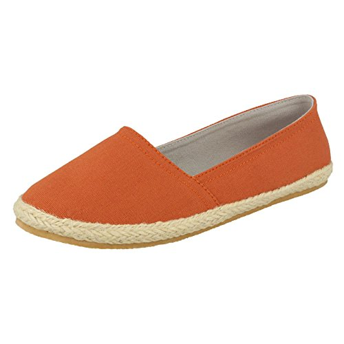 Spot On , Ballerines pour femme Orange  - Dusty Orange