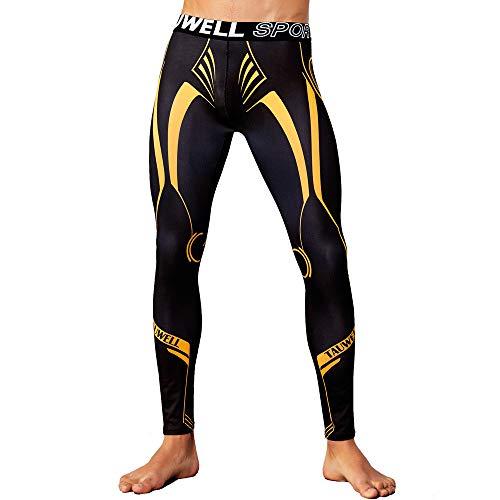 BaZhaHei Herren Hosen Leggings Fitnesshose Neue Farbige Sport-Fitnesshose Schnell trocknende, atmungsaktive Bodybuilding Workout Running Tight Lifting (Hot Biker Kostüm)