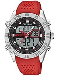 e332181a37e1 Calypso Watches Reloj Analógico-Digital para Hombre de Cuarzo con Correa en  Plástico ...