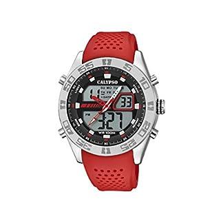 Calypso Watches Reloj Analógico-Digital para Hombre de Cuarzo con Correa en Plástico K5774/2