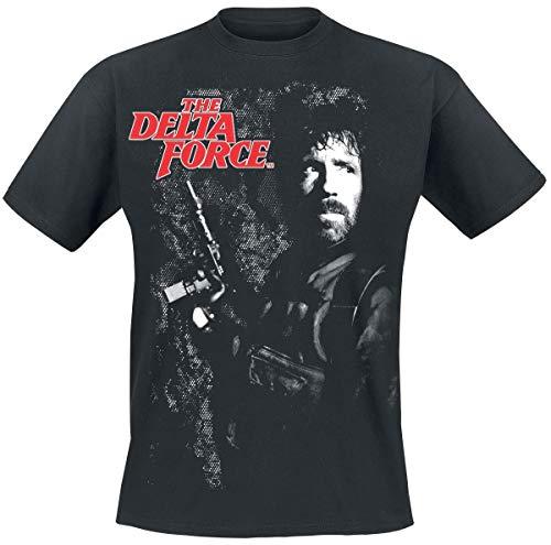 Delta Force T-shirts (The Delta Force Chuck Norris T-Shirt schwarz M)
