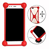 Ph26 Red Shockproof Silicone Bumper Case for Medion Life