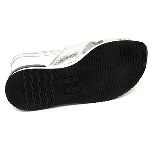 C8872 sandalo donna HOGAN H257 scarpa fasce incrociate argento shoe woman Argento